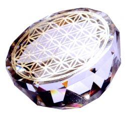 Blume des Lebens - Kristallhalbkugel
