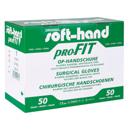 Soft-hand proFIT® Latex puderfrei Größe 6,5 mittel