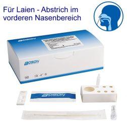 BOSON SARS-CoV-2 Antigen Schnelltest - zugelassen für Laien - 5 Teste