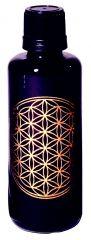Blume des Lebens - Violettglasflasche 100 ml