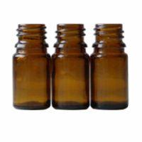 Braunglasflasche 5 ml DIN 18 ohne Verschluss
