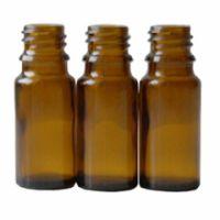 Braunglasflasche 10 ml DIN 18 ohne Verschluss