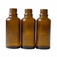 Braunglasflasche 30 ml DIN 18 ohne Verschluss