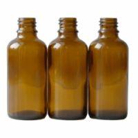 Braunglasflasche 50 ml DIN 18 ohne Verschluss