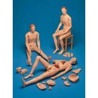 Zweigeschlechtliche Krankenpflegepuppe o hne innere Organe