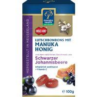 MGO 400+ Manuka-Honig schwarze Johannisbeere Hustenbonbons, 100g