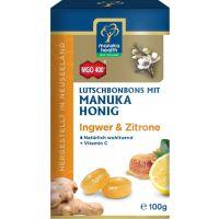 MGO 400+ Manuka-Honig Ingwer-Zitrone Hustenbonbons, 100g