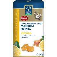 MGO 400+ Manuka-Honig Zitrone Hustenbonbons, 100g