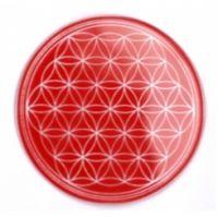 Blume des Lebens - Untersetzer 1. Chakra rot