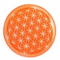 Blume des Lebens - Untersetzer 2. Chakra orange