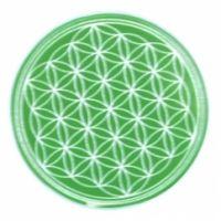 Blume des Lebens - Untersetzer 4. Chakra grün