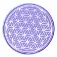 Blume des Lebens - Untersetzer 7. Chakra violett