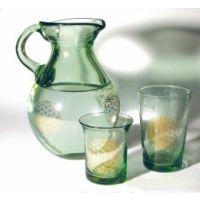 Blume des Lebens - Trinkglas 0,2 l grün