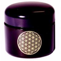 Blume des Lebens - Violettglas Cremedose 50 ml