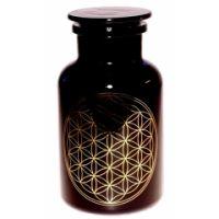 Blume des Lebens - Violettglas Apotheker glas 1 l