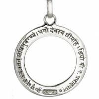 Anhänger GAYATRI MANTRA - Silber / mit Ö se