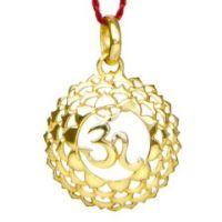 Anhänger 7. Chakra (Kronen-Chakra) - Gol d