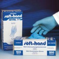 Soft-Hand NITRIL BLUE puderfrei M - mitt el