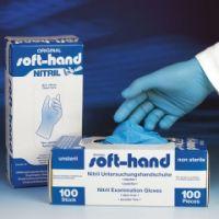 Soft-Hand NITRIL BLUE puderfrei XL - ext ra groß