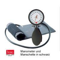 boso clinicus I, Ø 60 mm mit Klettenmans chette, SCHWARZ