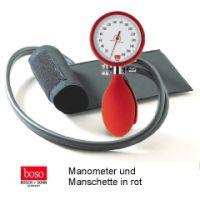boso clinicus II, Ø 60 mm mit Klettenman schette, ROT