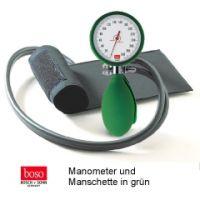 boso clinicus II, Ø 60 mm mit Klettenman schette, GRÜN