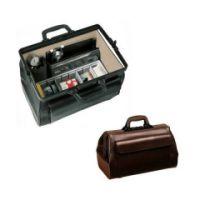 Arzttasche MEDI-LIGHT Leder, schwarz mit 1 Vortasche