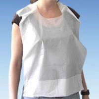 PE-Lätzchen mit Auffangtasche weiß, 41 x 61 cm (100 Stck.)