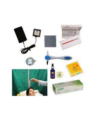 Arbeits-Set zur transfloralen Akupunktur