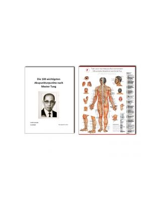 Bundle Tafel aller chin. Akupunkturpunkte  & Skript Master Tung