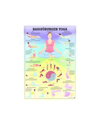Basisübungen Yoga (laminiert)