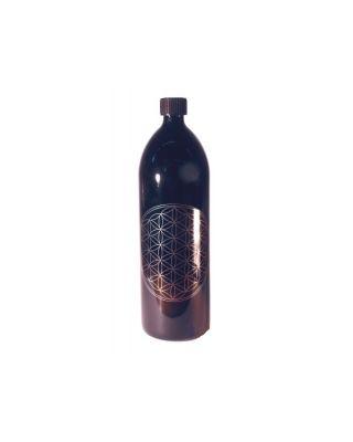 Blume des Lebens - Violettglasflasche 1 l