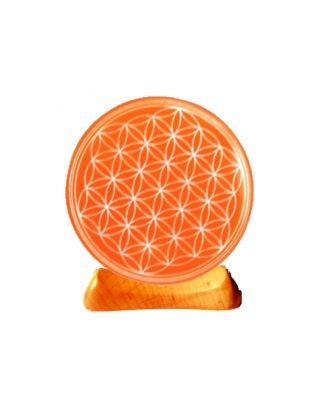 Blume des Lebens - Teelicht 2. Chakra orange