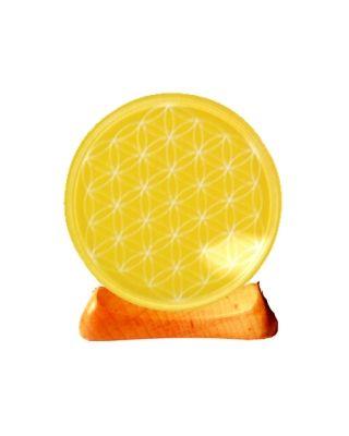 Blume des Lebens - Teelicht 3. Chakra gelb