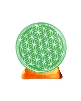 Blume des Lebens - Teelicht 4. Chakra grün