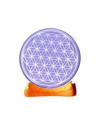 Blume des Lebens - Teelicht 7. Chakra violett