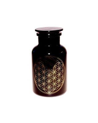 Blume des Lebens - Violettglas Apothekerglas 1 l