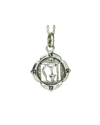 Anhänger 1. Chakra (Wurzel-Chakra) - Silber