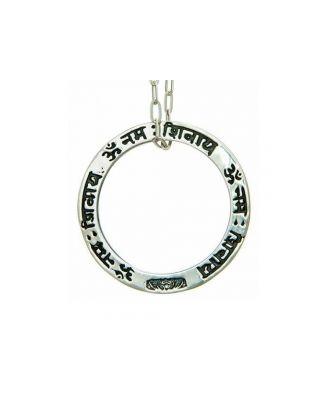 Anhänger OM NAMAH SHIVAYA - Silber / ohne Öse