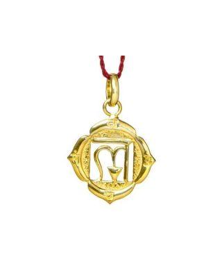 Anhänger 1. Chakra (Wurzel-Chakra) - Gold
