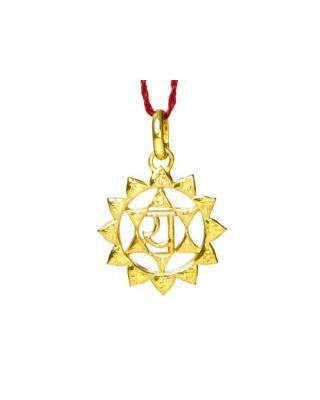 Anhänger 4. Chakra (Herz-Chakra) - Gold