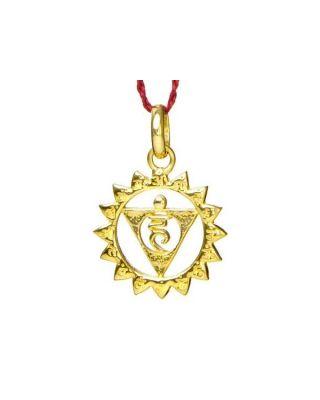 Anhänger 5. Chakra (Hals-Chakra) - Gold