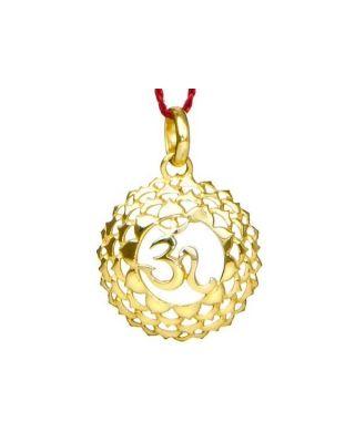 Anhänger 7. Chakra (Kronen-Chakra) - Gold