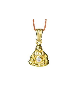 Anhänger BUDDHA - Gold mit  Lavendar