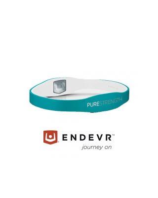 Energiearmband Pure Serie türkis / weiß - S