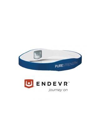 Energiearmband Pure Serie blau / weiß - M