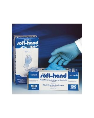Soft-Hand NITRIL BLUE puderfrei M - mittel