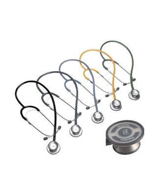 duplex® Stethoskop Aluminiumbruststück - SCHWARZ