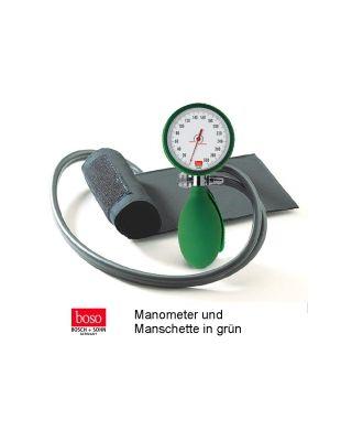 boso clinicus II, Ø 60 mm mit Klettenmanschette, GRÜN