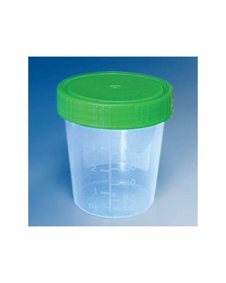 Urinbecher 100/125 ml mit Schraubdeckel grün (500 Stück)